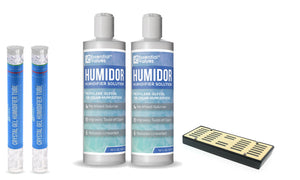 Humidor Solution & Cigar Humidor Humidifier Combo, 16oz Propylene Glycol and Cigar Humidifier
