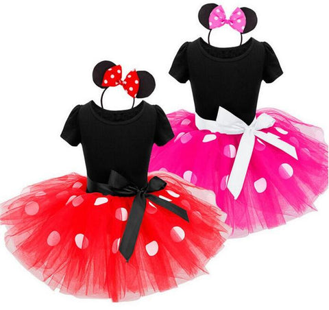 Cute Mini Polka Dot Tutu Set