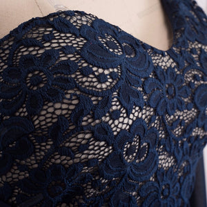 One Shoulder Lace Long Maxi Dress