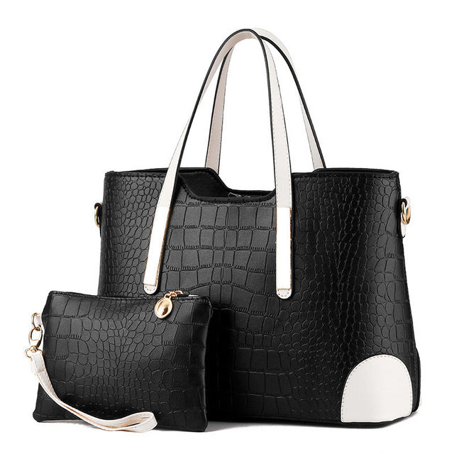 Crocodile Pattern Composite Bag (multiple colors)