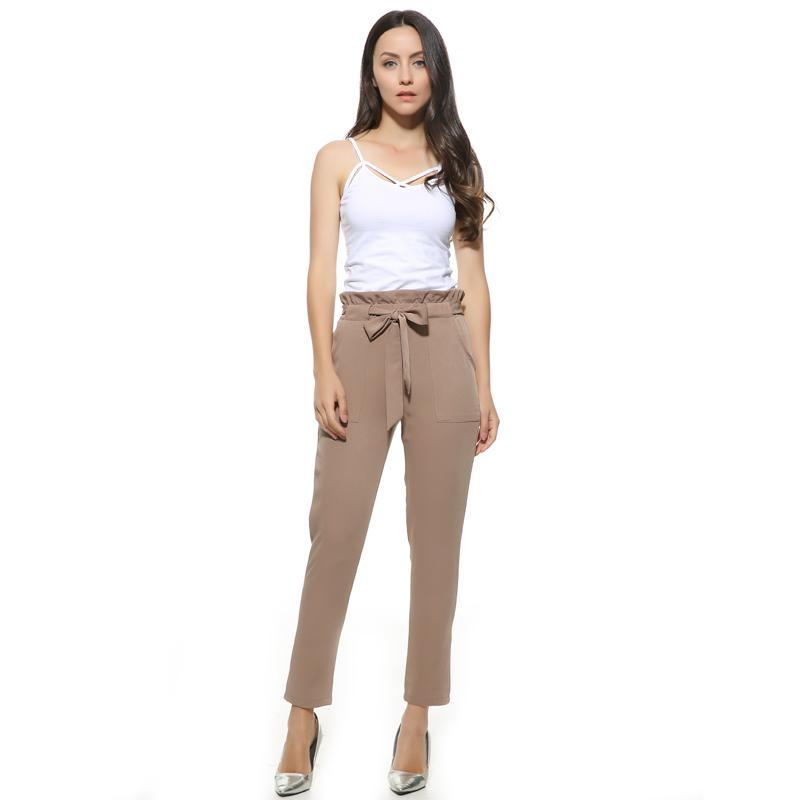 High Waist Harem Pants (Khaki/Black)
