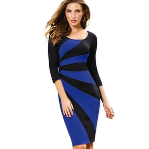 Patchwork Sheath Pencil Dress (multiple colors)