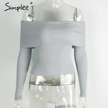 Off Shoulder Elastic Winter Sweater (Gray/Lotus/Burgundy) LIMITED SIZES AVAILABLE