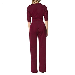 Slanted One Shoulder Wide Leg Jumpsuit (Multiple Colors)