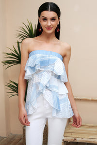 Strapless Chiffon Layered Blouse