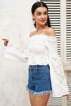 Embroidery Off-The-Shoulder Blouse