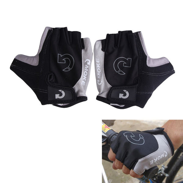 MOKE Half Finger Cycling Gloves Anti Slip Gel Pad Breathable