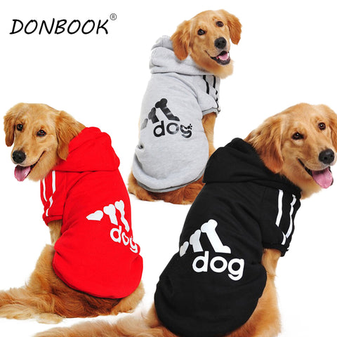 Donbook Large Size Dog Sweatshirt Hoodie Sportswear for Big Dogs