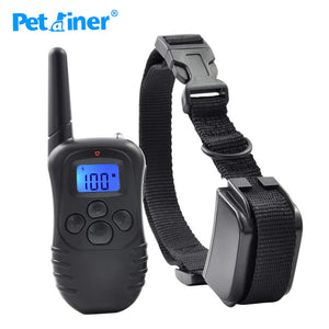 Dog Training Shock Vibration Rechargeable Rainproof Collar With LCD Display