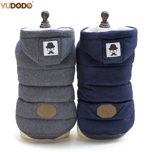 Dog Jacket Hooded Thick Cotton Coat