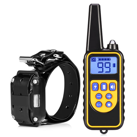 Dog Collar - Rechargeable Electric Dog Training Collar With Remote Controller