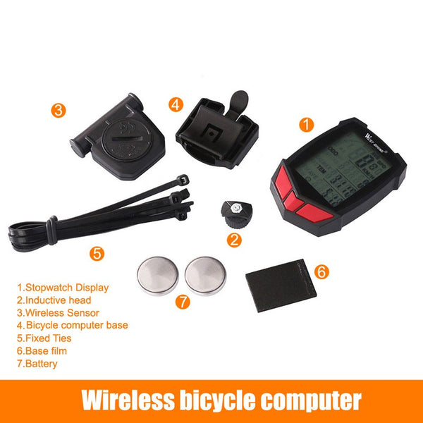 Wired / Wireless Bike Computer 20 Functions