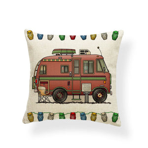 """Ancient Roamin' Palace""Happy Camper Pillow Cover"