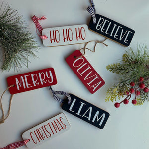 Personalized Holiday Wood Tags