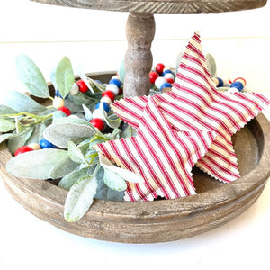 Patriotic Stars & Flags Tray Fillers | Set of 2