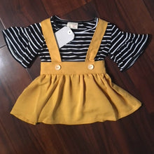 Adorable Mustard Skirt Set