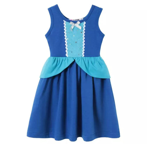 Character Inspired Blue Cinderella Princess Dress