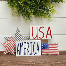 Small Patriotic Wood Signs