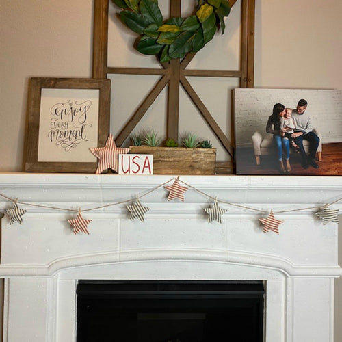 Patriotic Farmhouse Garland