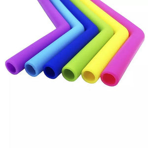 Reusable Silicone Straw Set