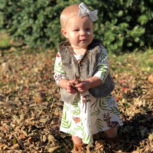 Woodland Deer Toddler Dress