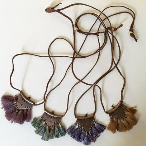 Silk Tassel Necklace | 4 Colors