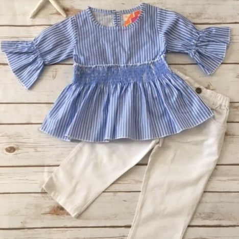Adorable Striped Shirt and Pants Set