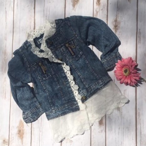 Toddler Lace Denim Jacket