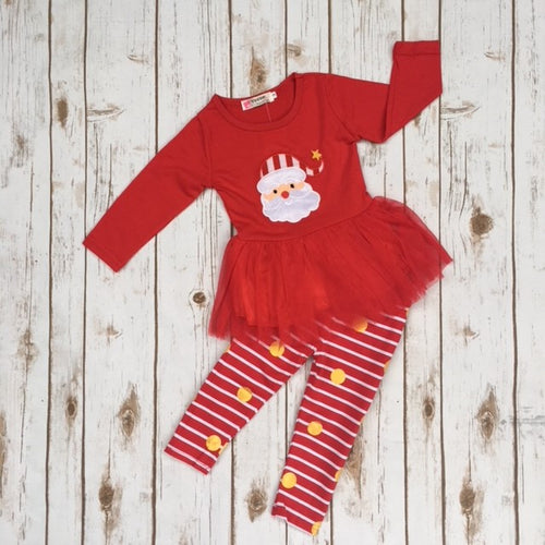 Santa Tutu Holiday Outfit