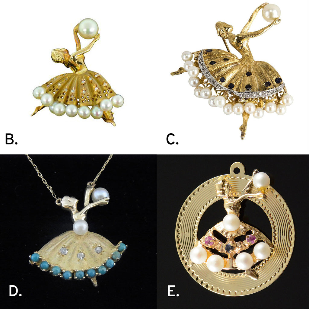 Weird Heirloom Jewelry: The Medallion Pendant, Part III: The Ballerina Mysteries