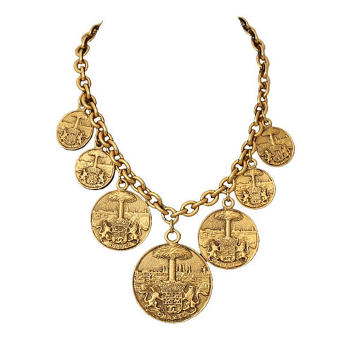 Chanel Medallion Necklace Circa 1970s | Photo: 1stdibs.com