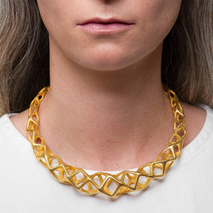 CUBIT - 3d Printed Necklace -  Steel