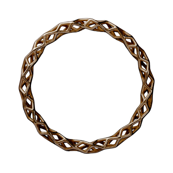 bronze steel 3d printed bangle