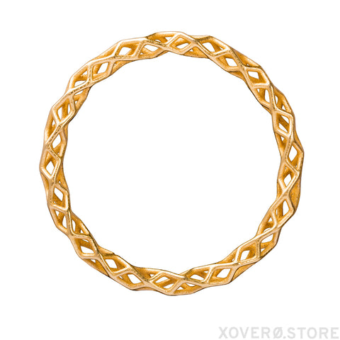 3d printed bangle in gold plated steel