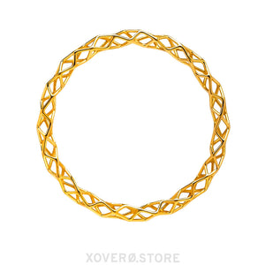 CUBILITE - 3d Printed Bracelet - Sterling Silver or Gold Plated