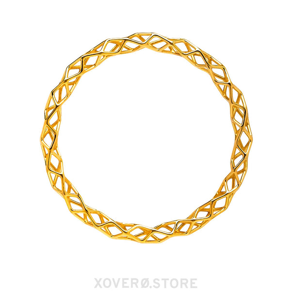 CUBILITE - 3d Printed Bracelet - Sterling Silver or Gold-Plated