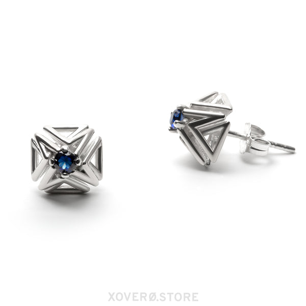 DOXOSTONE - 3d Printed Earrings - Sterling Silver