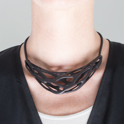 GRAVITY CREST - 3d Printed Necklace - Nylon