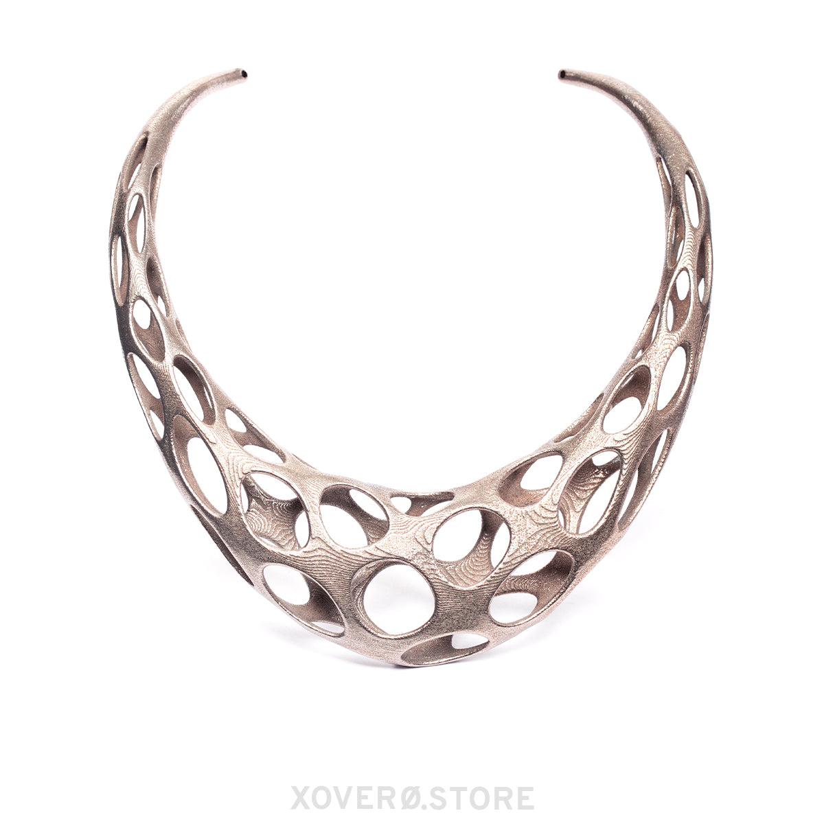 OBERON - 3d Printed Necklace - Steel