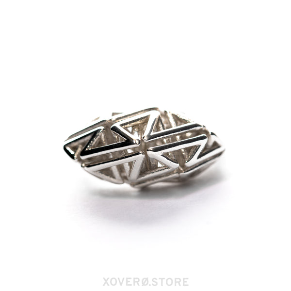 DYNA - 3d Printed Ring - Sterling Silver or Gold-Plated
