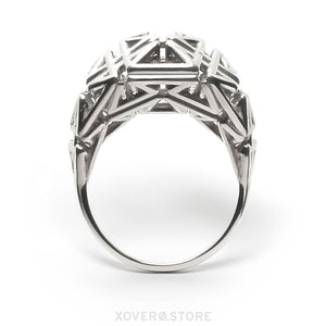 DAEDAL - 3d Printed Ring - Sterling Silver or Gold-Plated