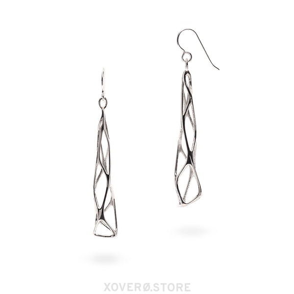 TAMARIX - 3d Printed Earrings - Sterling or Gold-Plated