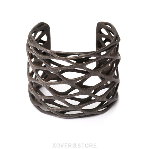 GALAXIE - 3d Printed Cuff - Steel