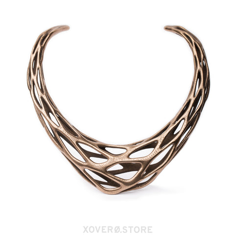 GRAVITY - 3d Printed Necklace - Steel