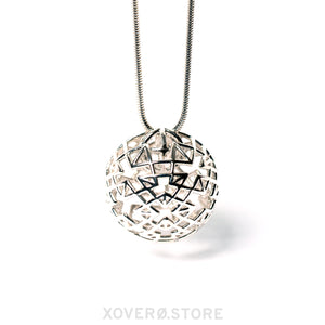 DEVINA - 3d Printed Pendant - Sterling Silver