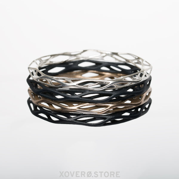 TALIS - 3d Printed Bangle - Steel