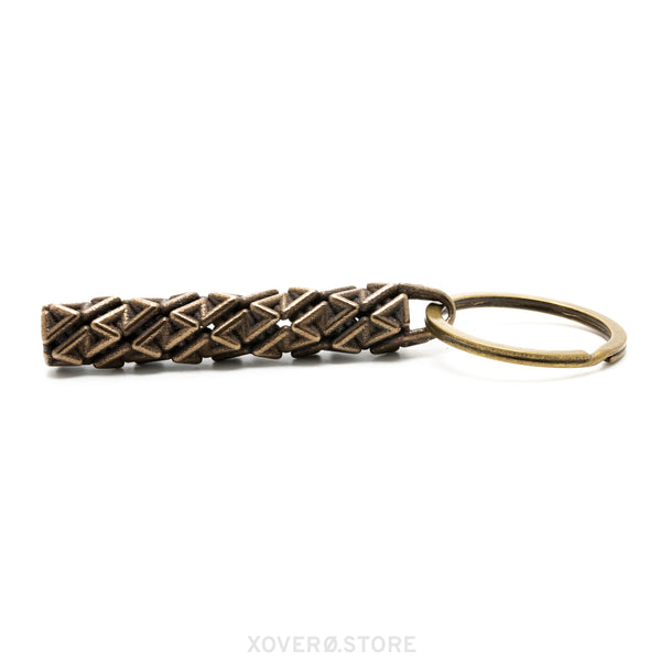 DROGUE - 3d Printed Keychain - Steel