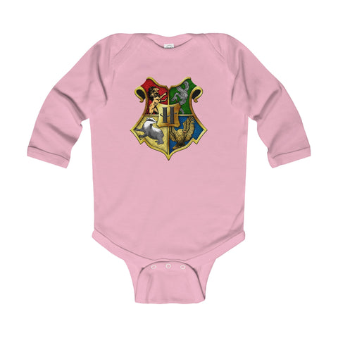 Hogwarts Crest Infant Long Sleeve Bodysuit