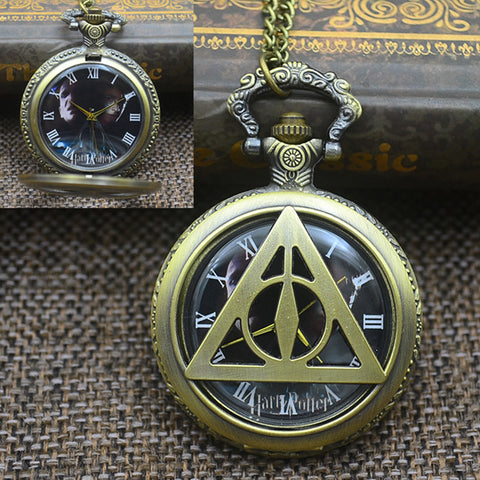 Harry Potter Quartz Pocket Watch Necklace