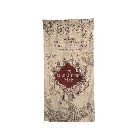 Harry Potter The Marauder's Map Beach Bath Towel